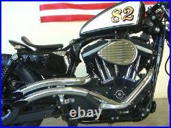 Radii Chrome 2 Curvado Big Radius Drag Exhaust Pipes 2004-2020 Harley Sportster