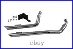 Radii Chrome Drag Sweeper Exhaust System Pipes 2 1/4 1991-2017 Harley Dyna FXD