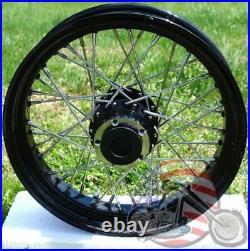 Rear 16 x 3 40 Spoke Black Rim Hub Wheel Harley Dyna Softail Sportster 2000-2004