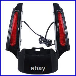 Rear Fender Extension Fascia LED Light For Harley Touring Road King Glide 09-13
