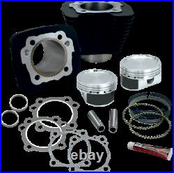 S&S Cycle XL 883 to 1200 Black Big Bore Coversion Kit Harley Sportster 86-19
