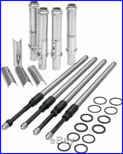 S&S Quickee EZ Install Adjustable Pushrods Chrome Cover Kit 99+ Harley Twin Cam