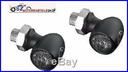 Satz Kellermann Bullet Atto Dark Schwarz Paar (2 Stück) LED Blinker Mini Blinker