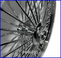 Ultima 48 King Spoke Fat 23 3.5 Front Wheel Rim Harley Touring Dual Disk Chrome