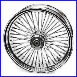 Ultima Chrome 18 x 5.5 48 Fat King Spoke Rear Wheel Harley Chopper Bobber Custom
