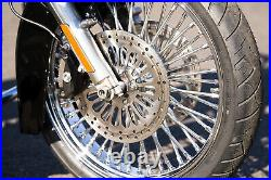 Ultima Chrome 21 3.5 48 Fat King Spoke Front Wheel Rim Harley Touring Dual Disc