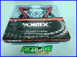 Vortex 520 sprocket kit gold chain, front and rear for 2006-2018 Yamaha R6