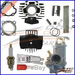 Yamaha PW 50 PW50 Carburetor Cylinder Piston Ring Gasket Top End Kit 1981-2009